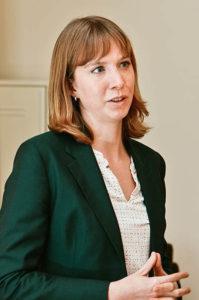 Annie Nürnberg Vortragssituation